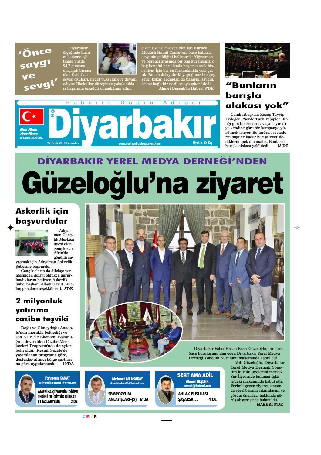 27 01 2018 0 By Ozdiyarbakirgazetesi Issuu