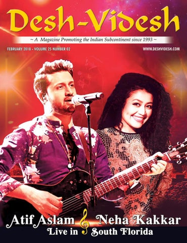 Desh Videsh Magazine Atif Aslam and Neha Kakkar February 2018 by