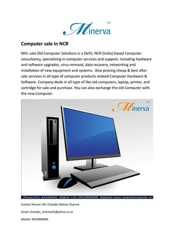 Computer sale in ncr by saleoldcomputer - issuu