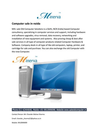 Computer sale in noida by saleoldcomputer - issuu