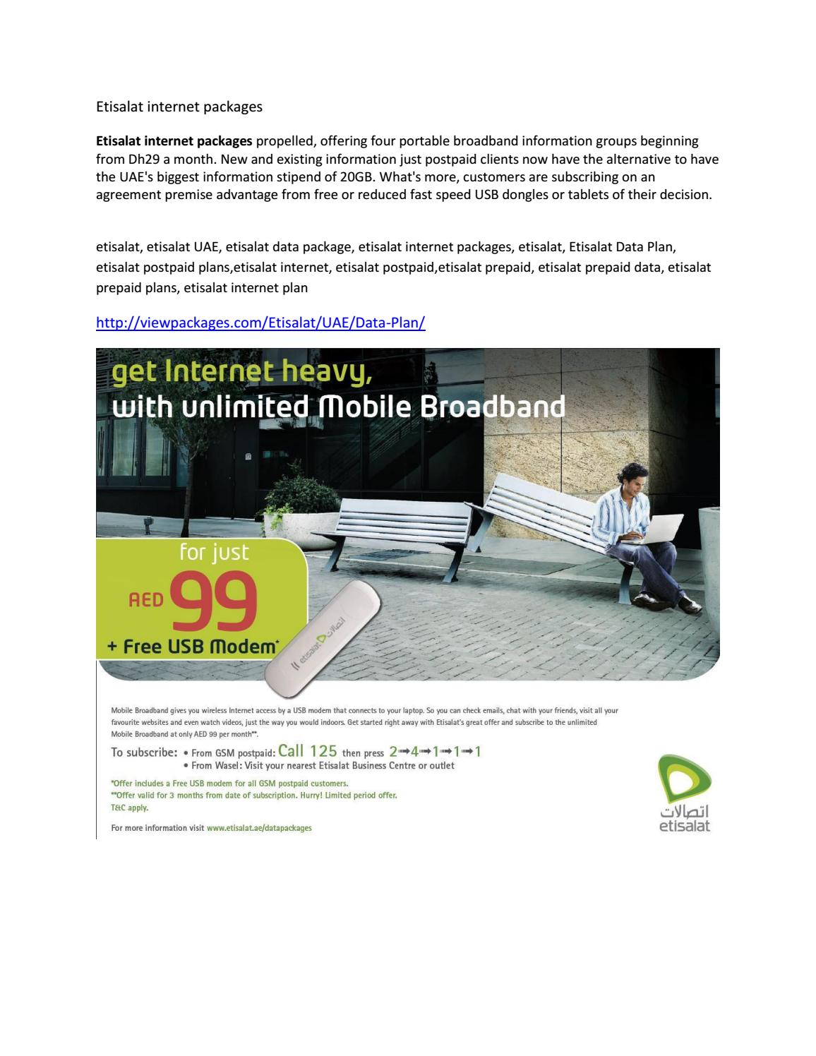 Etisalat internet packages by viewpackages - issuu