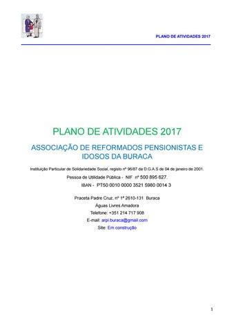 ea747fe74f Plano de Actividades 2017 by Associação de Reformados Pensionistas e ...