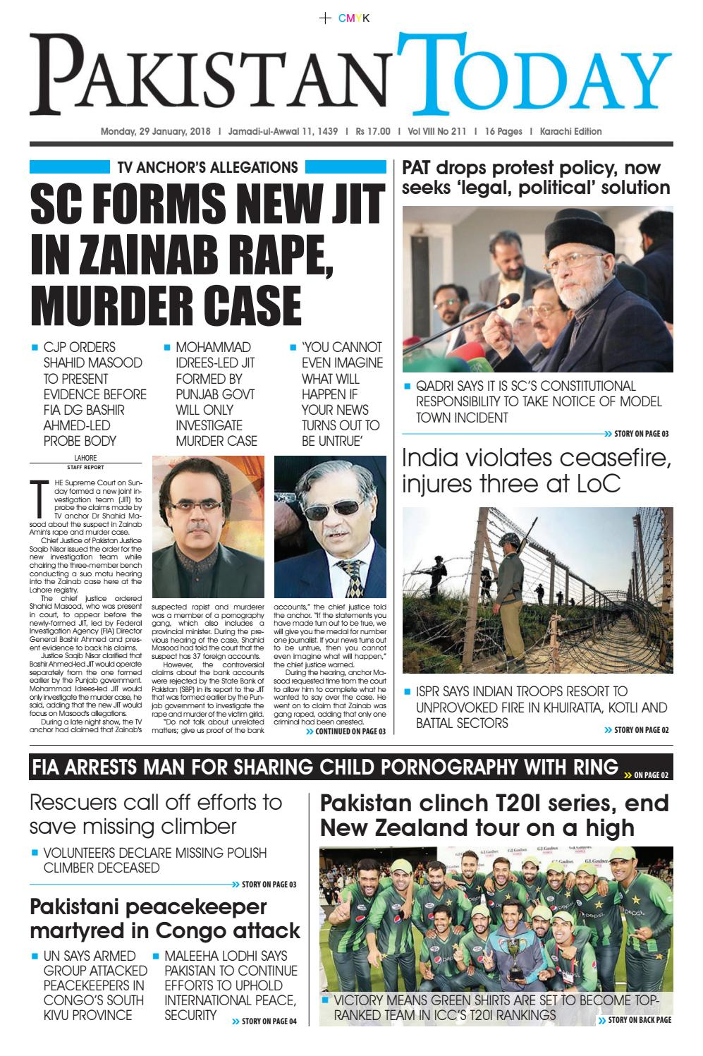 E paper pdf 29th january (khi) by Pakistan Today - issuu
