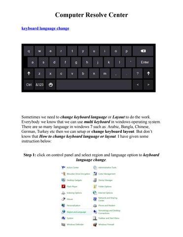 Keyboard language change