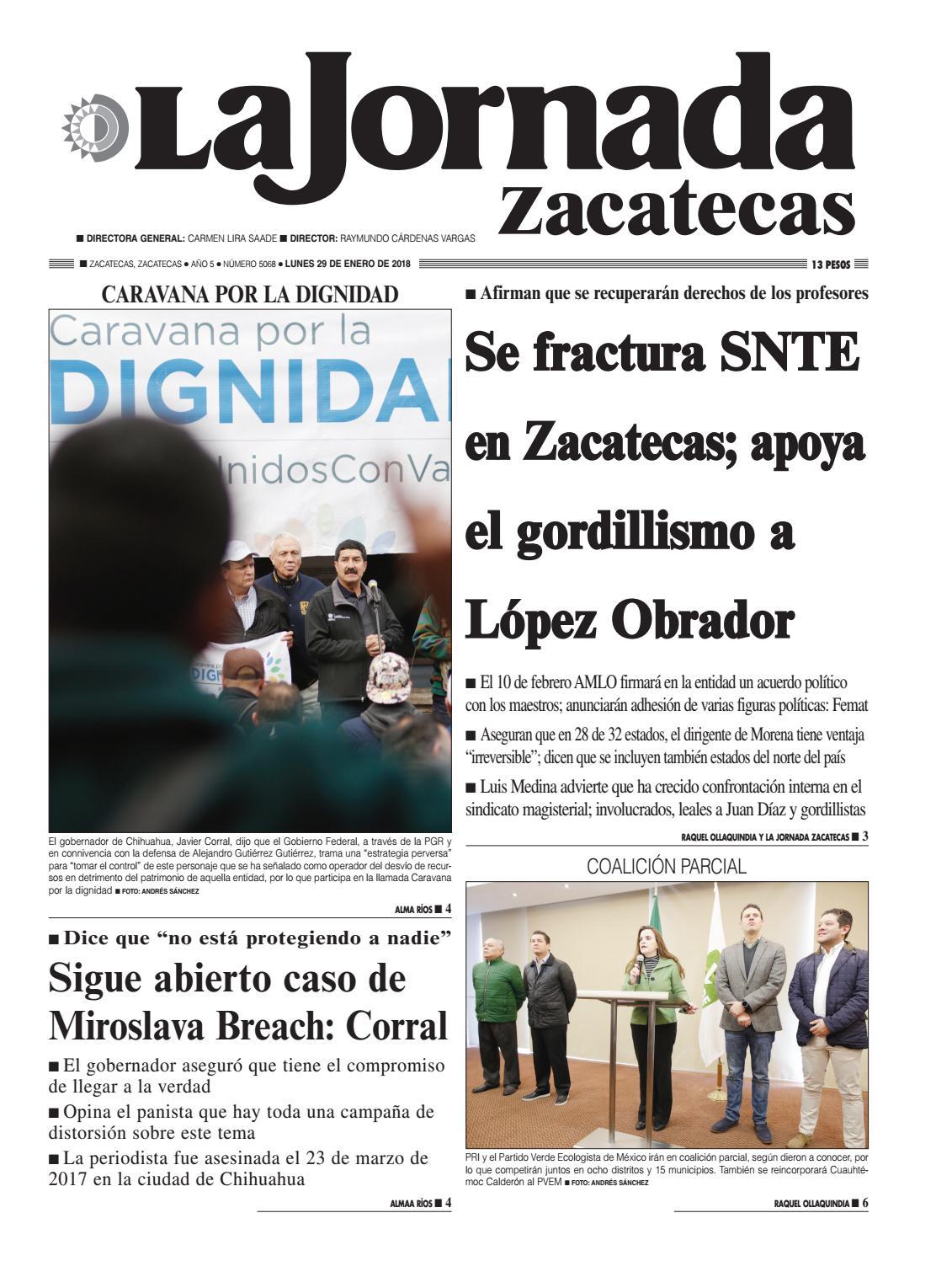 La Jornada Zacatecas, Lunes 29 de Enero del 2018 by La Jornada ...