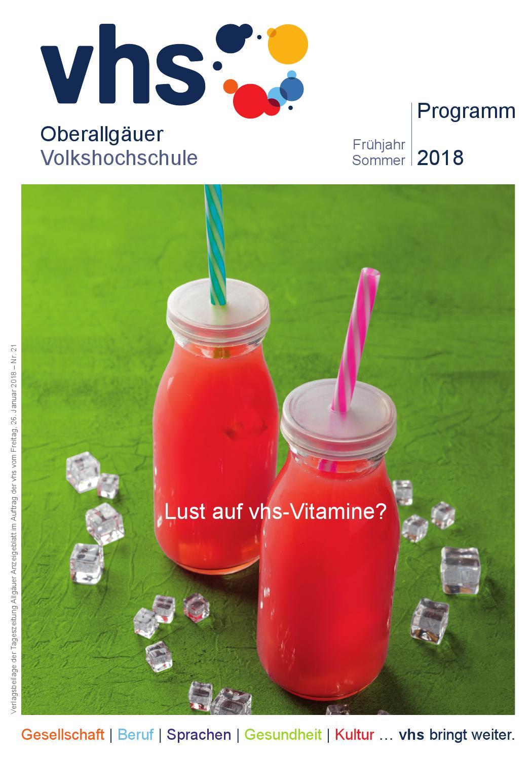 vhs-Programmheft Frühjahr/Sommer 2018 by Oberallgäuer ...