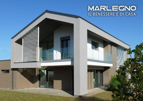 Catalogo case marlegno anno 2018 by marlegno for Ville bifamiliari moderne