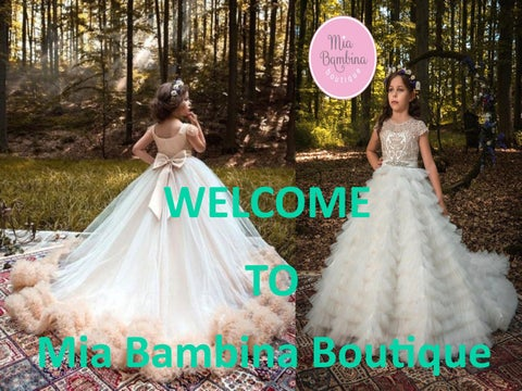 76d9673315b2 Flower girl dresses by Mia Bambina Boutique - issuu