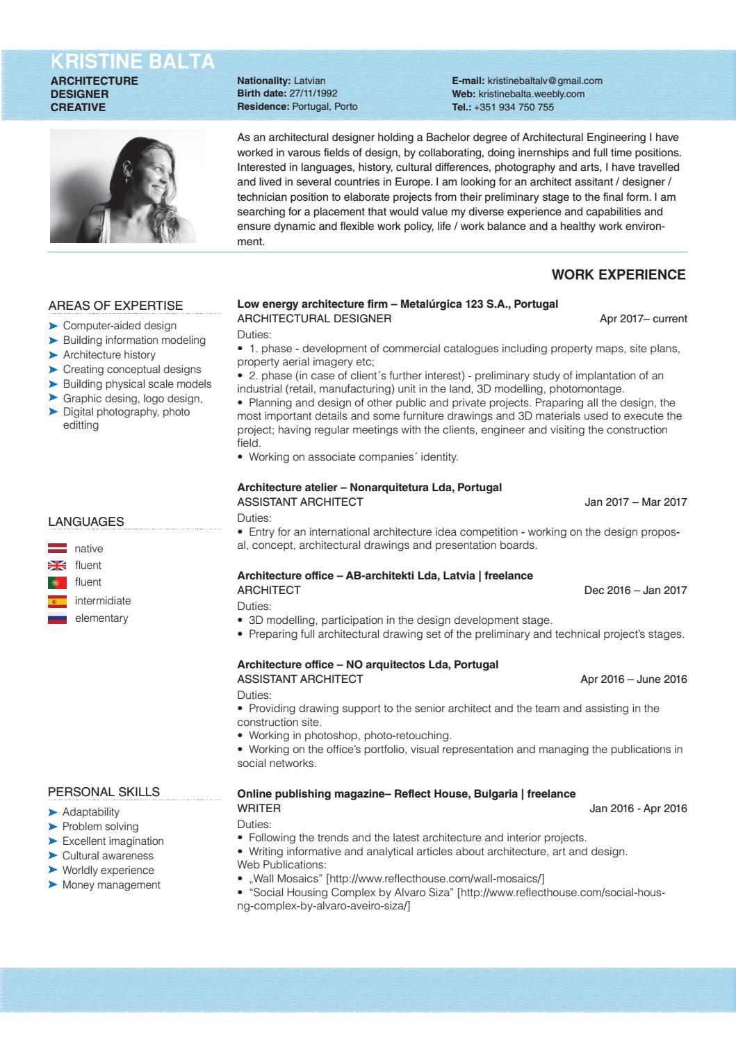 CV by Kristīne Baltā - issuu