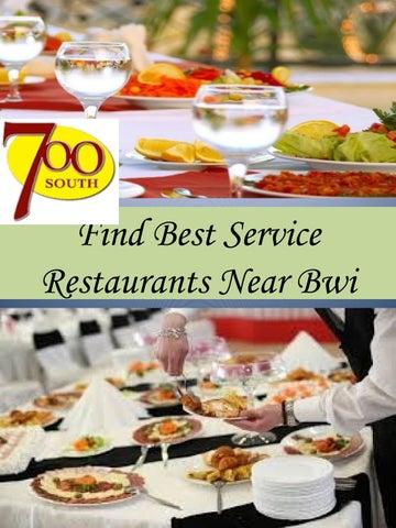 Find Best Service Restaurants Near Bwi By Southdeli Issuu