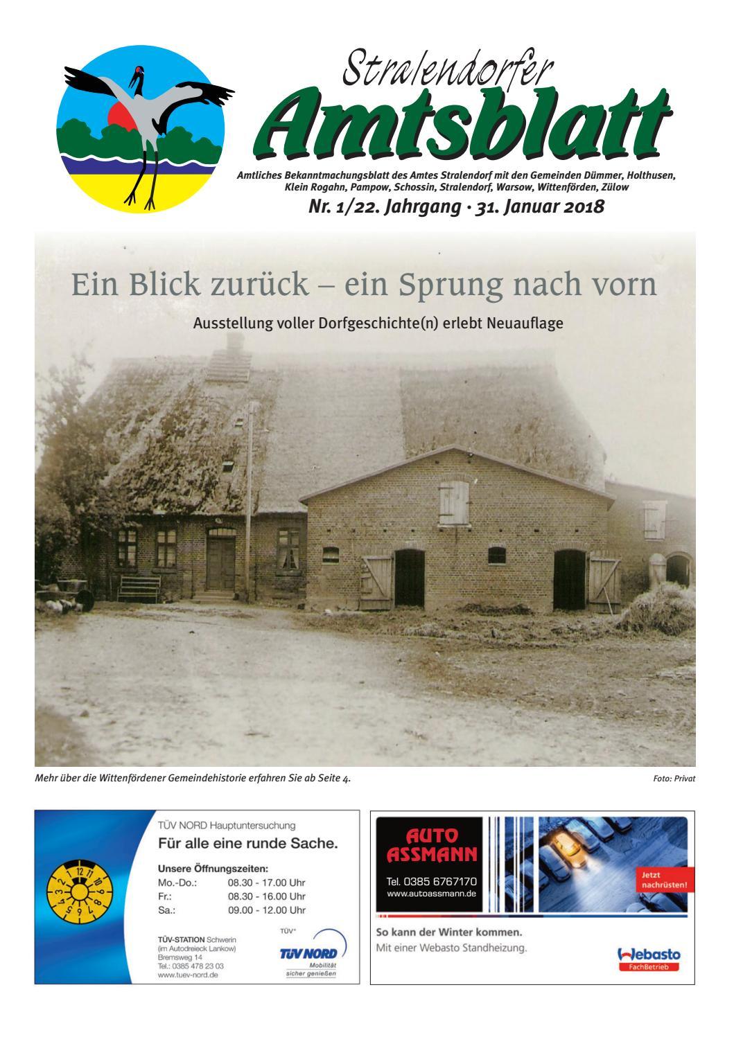 Stralendorfer Amtsblatt Januar 2018 by Delego Wirtschaftsverlag ...