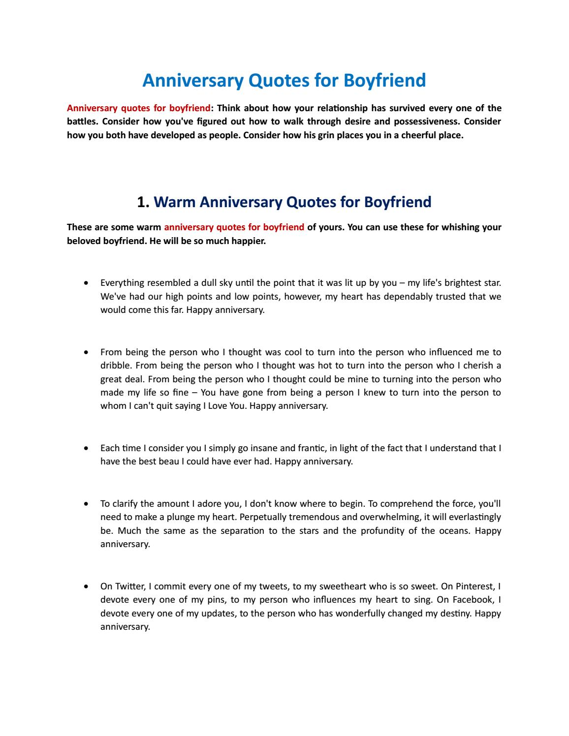 Anniversary Quotes For Boyfriend By Bh Cyber Issuu