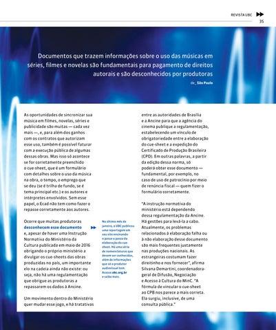 Page 35 of Solu\u00E7\u00E3o para problema dos Cue-Sheets de obras audiovisuais