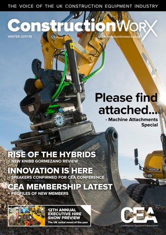 ConstructionWorX - Winter 2017/18 by Construction Equipment