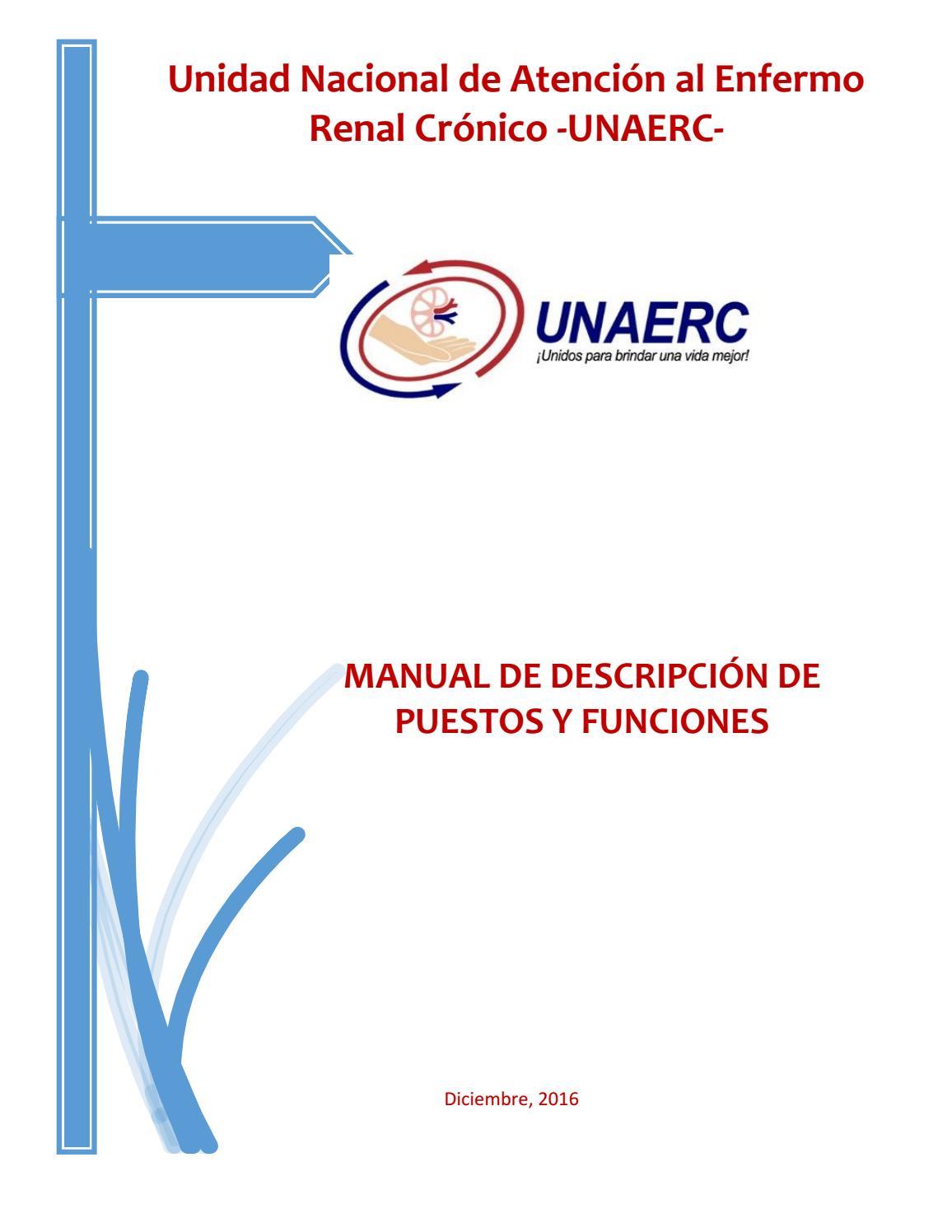 Manual de descripción de puestos y funciones sede regional de ...