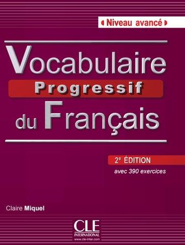 Extrait Vocabulaire Progressif Du Francais 2e Edition Niveau