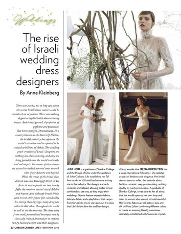 ccc84c68b59 The rise of Israeli wedding dress designers By Anne Kleinberg There was a  time