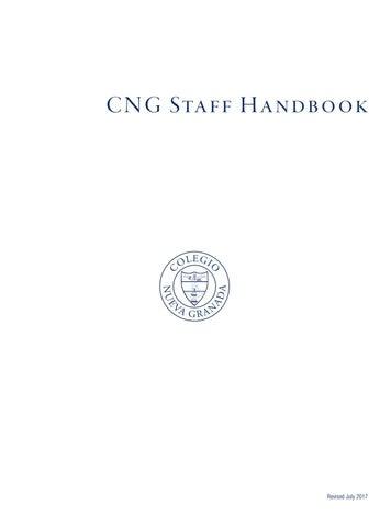 Staff Handbook (2017 Update) by CNG Colegio Nueva Granada