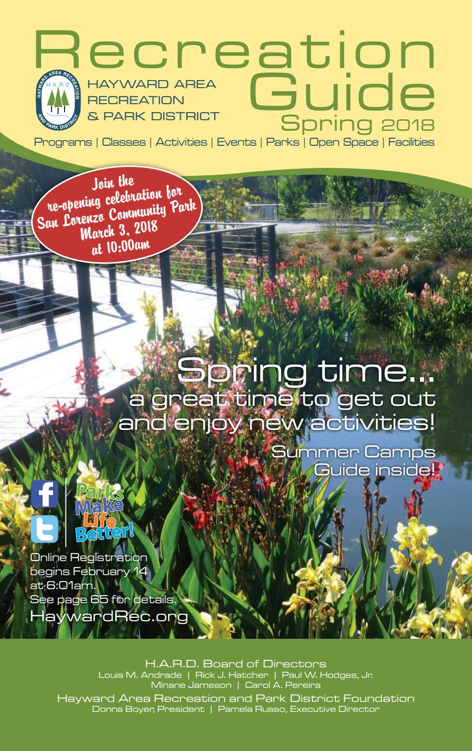 aa5c5ad45e4a Hayward Recreation and Park District Guide Spring 2018 by Nicole Roa - issuu