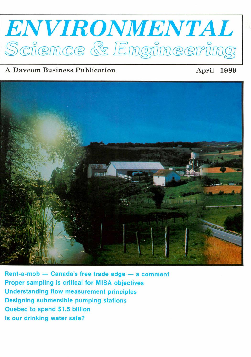 The Corrosive Cult Of Compliance In Our >> Environmental Science Engineering Magazine Esemag April 1989 By