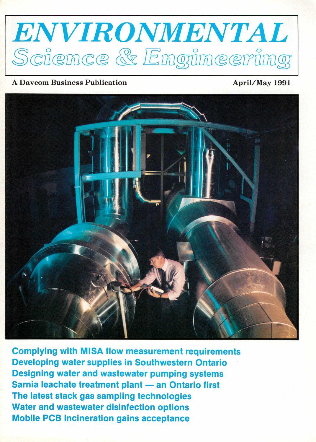 Environmental Science & Engineering Magazine (ESEMAG) April-May 1991 ...