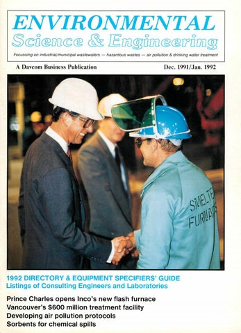 299a6a095c20 Environmental Science   Engineering Magazine (ESEMAG) December 1991 ...