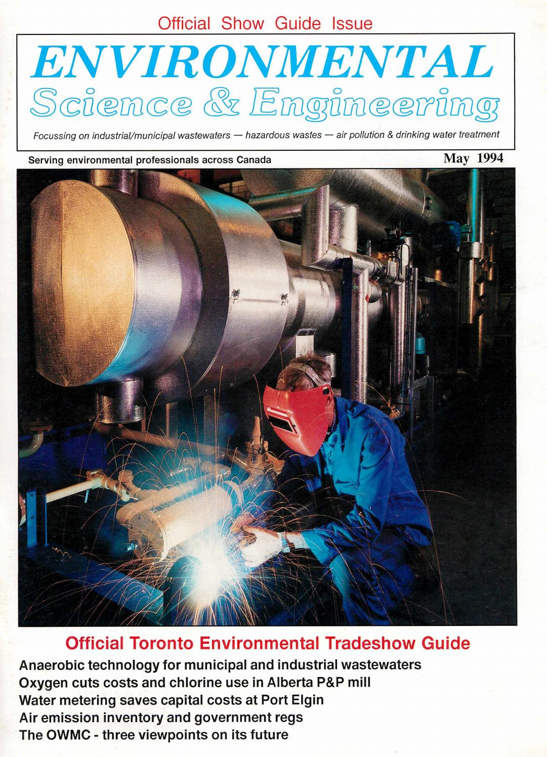 Environmental Science Engineering Magazine Esemag May 1994 By 3g H 220v Ozone Generator Tube Circuit Board Air And Water Issuu