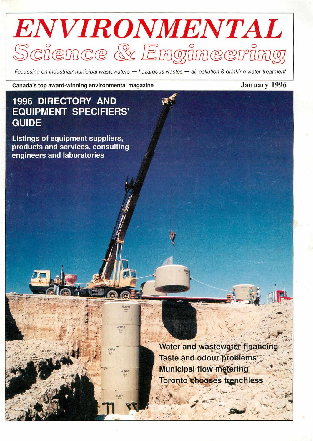 Environmental Science & Engineering Magazine (ESEMAG) January 1996 ...