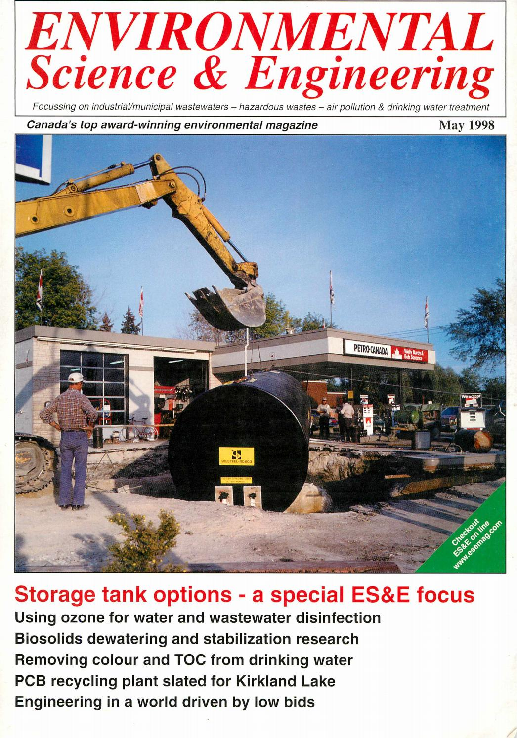 Environmental Science Engineering Magazine Esemag May 1998 By 3g H 220v Ozone Generator Tube Circuit Board Air And Water Issuu