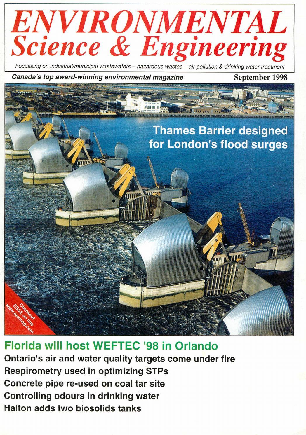 Environmental Science & Engineering Magazine (ESEMAG) September 1998 ...