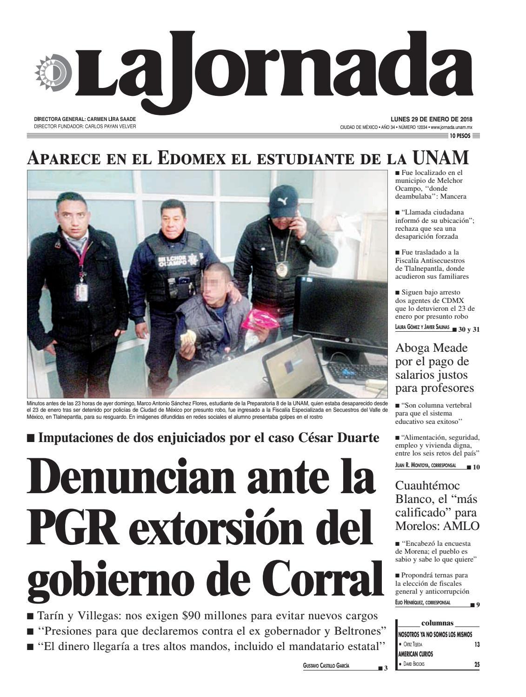 La Jornada, 01/29/2018 by La Jornada: DEMOS Desarrollo de Medios ...