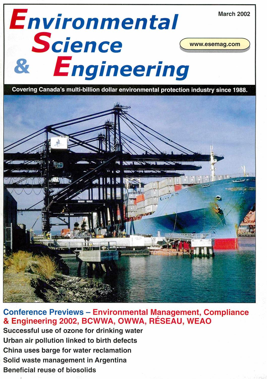 Environmental Science & Engineering Magazine (ESEMAG) March