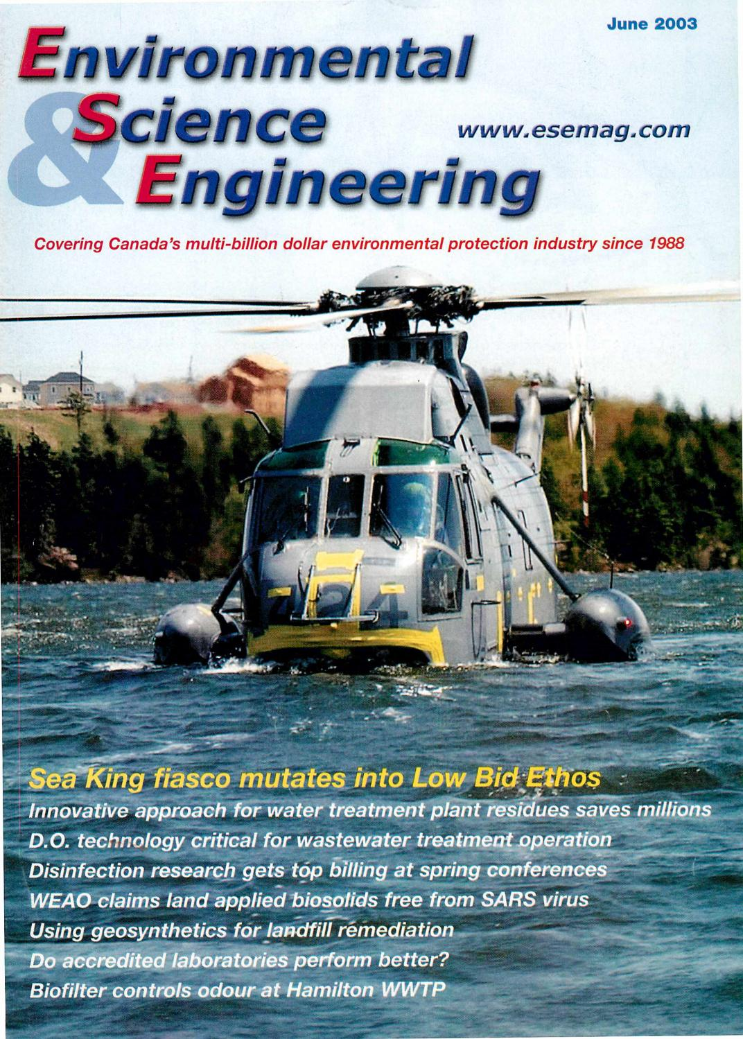 Environmental Science & Engineering Magazine (ESEMAG) June 2003 by ...