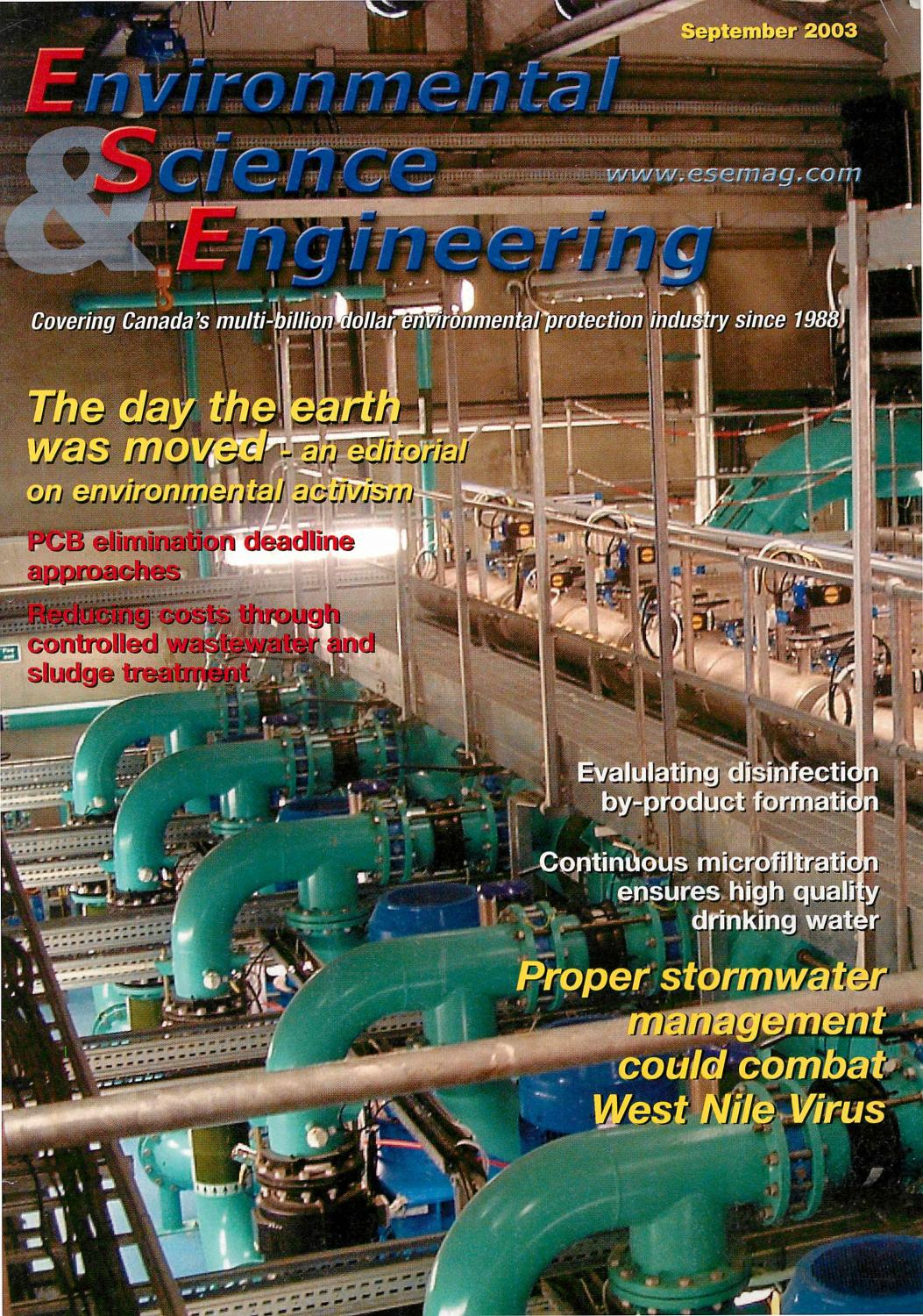 Environmental Science Engineering Magazine Esemag September 2003 Land Rover D90 O Demeter Wiring Diagram By And Issuu