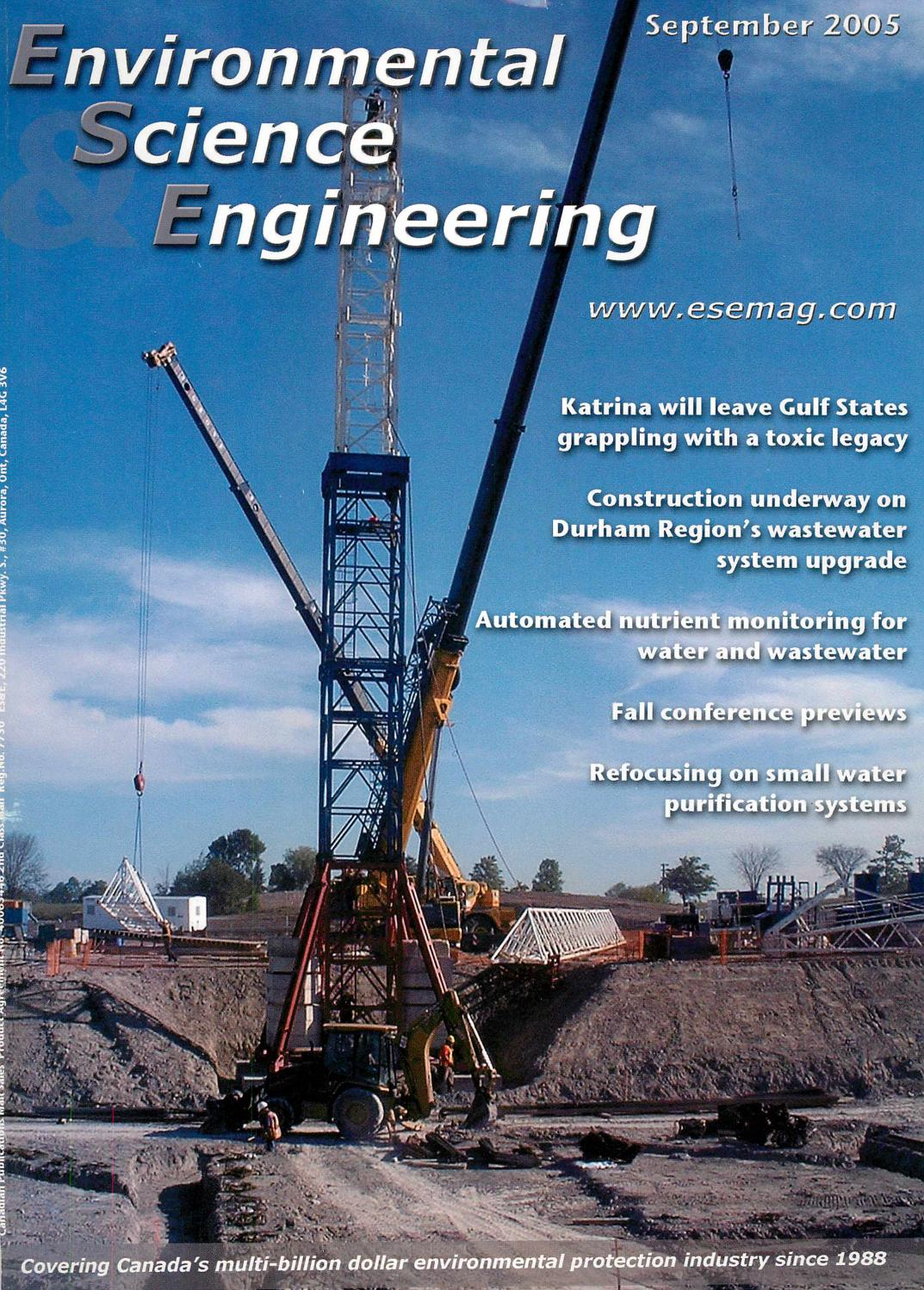 Environmental Science Engineering Magazine Esemag September 2005 Further Capping Casing And Wiring Also Denso Tape On Fax Cable By Issuu