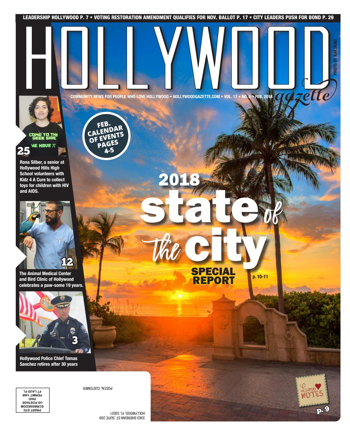 Hollywood Gazette Feb  2018