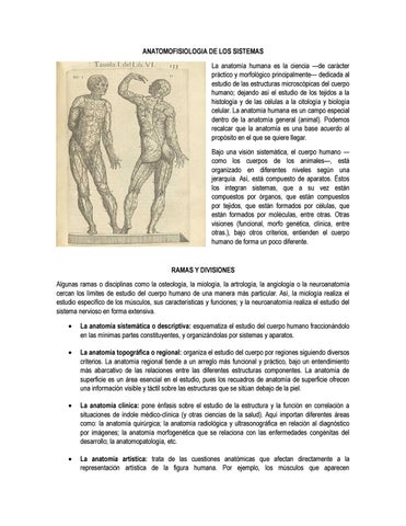 Anatomofisiologia de los sistemas by Daniela Gonzalez Marin - issuu
