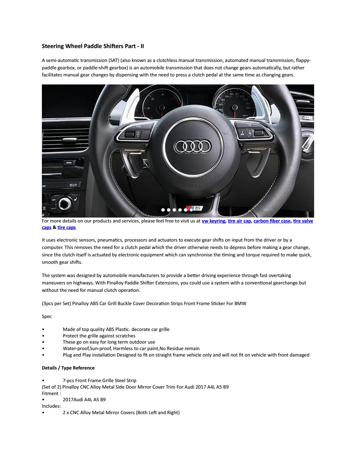 c3a5e397d07 Steering wheel paddle shifters part ii by pinalloy - issuu
