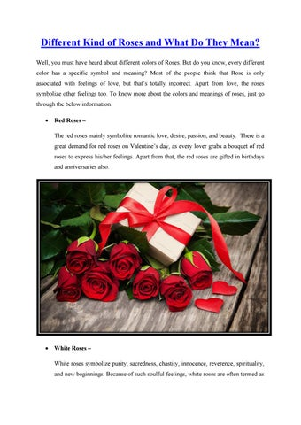 Different Kind Of Roses And What Do They Mean By Flowersngiftonline