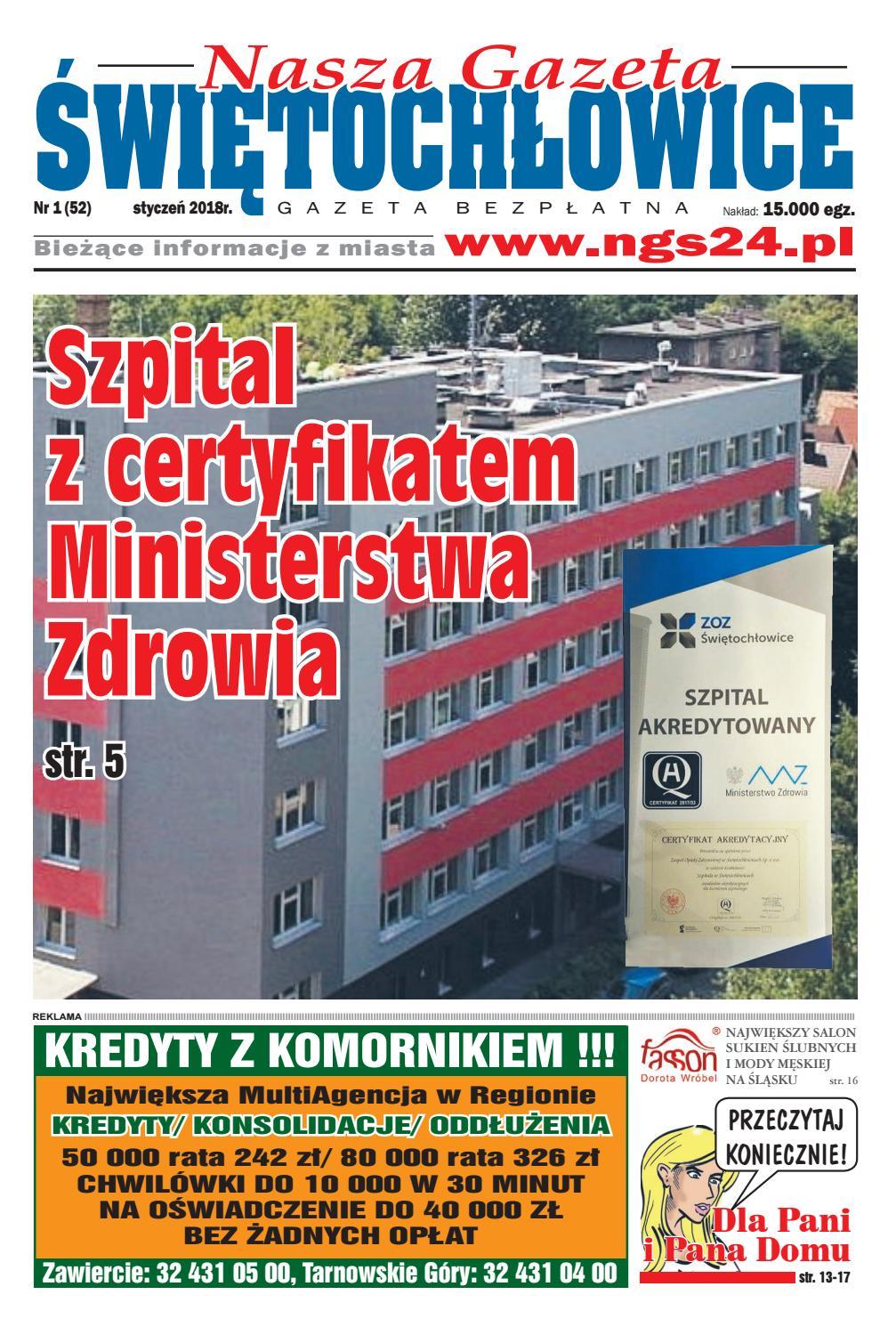 d967c66052b63 Nasza Gazeta Świętochłowice nr 52 - 1/2018 by F-PRESS - issuu