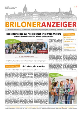Briloner Anzeiger Ausgabe vom 31.01.2018 Nr.04 by Brilon-totallokal ...