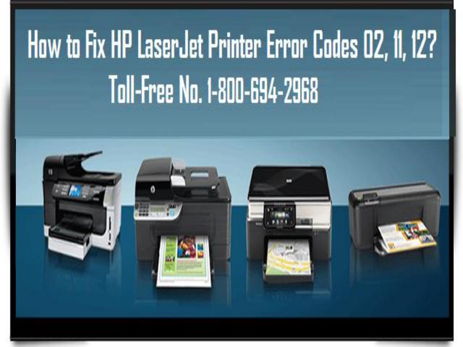 Call 1-800-694-2968 To Fix HP LaserJet Printer Error Codes