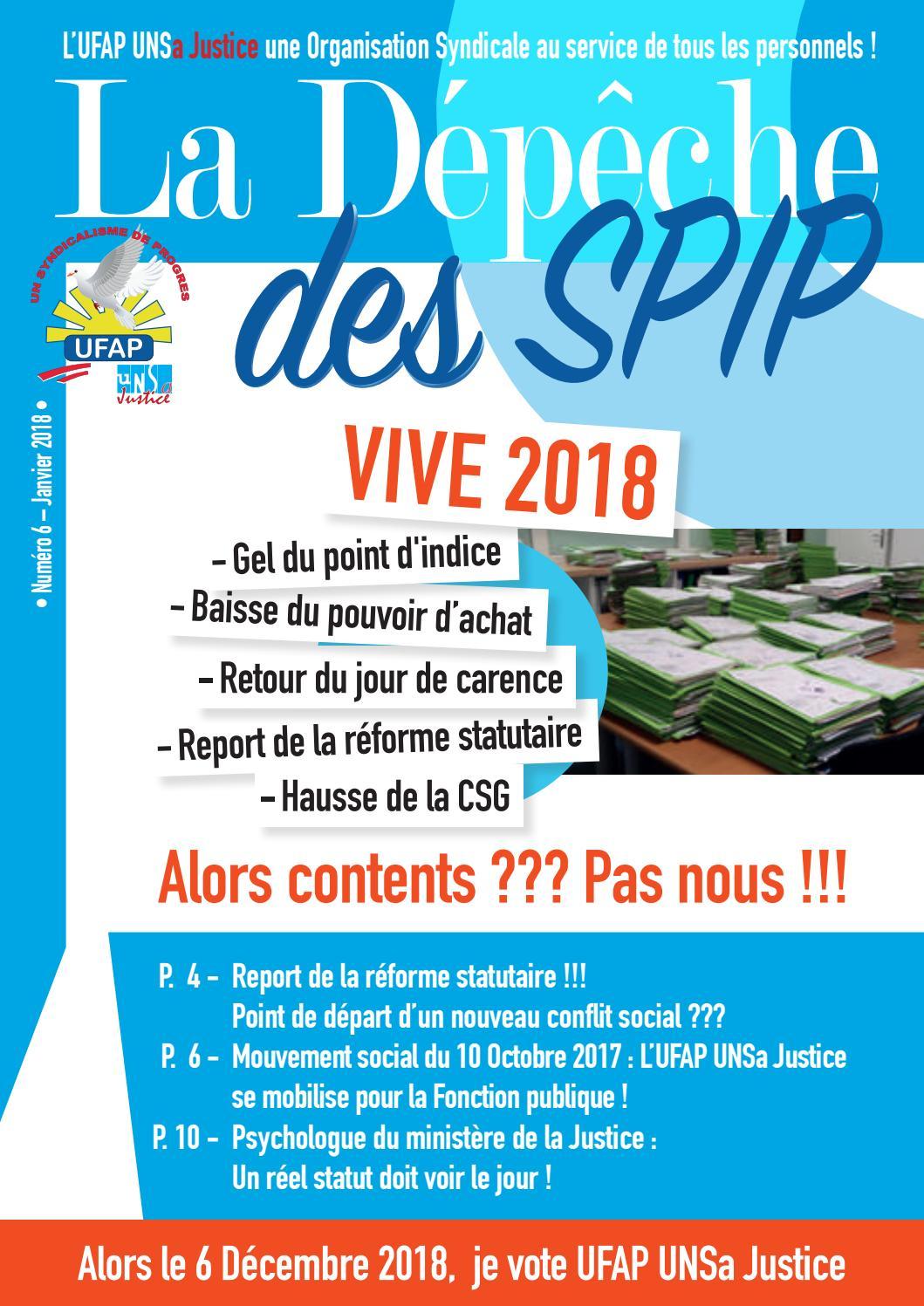 Ufap Calendrier Paye 2022 La depeche des spip n°6 a4(planche) compressed by UFAP UNSa