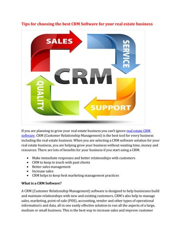 Tips for choosing the best crm software for your real estate