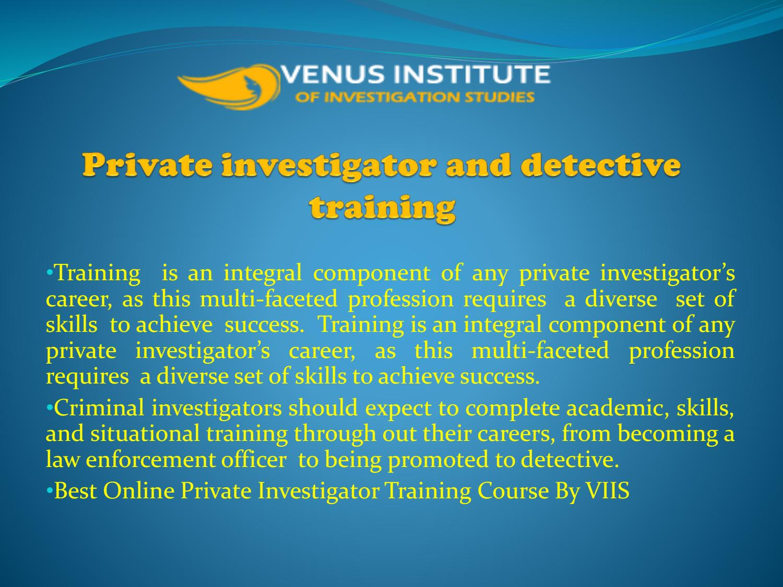 Detective Training