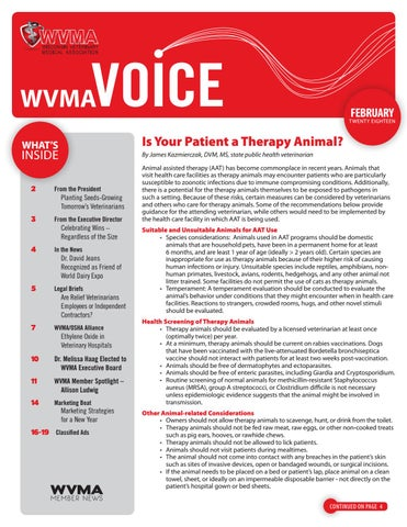What Is A Time Weighted Average Definition From Safeopedia >> February 2018 Wvma Voice By Wisconsin Veterinary Medical Association