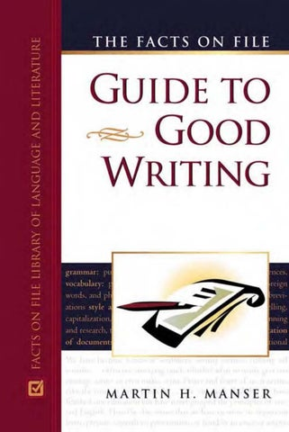 Guide To Good Writing Martin Manser By Academia Lishana