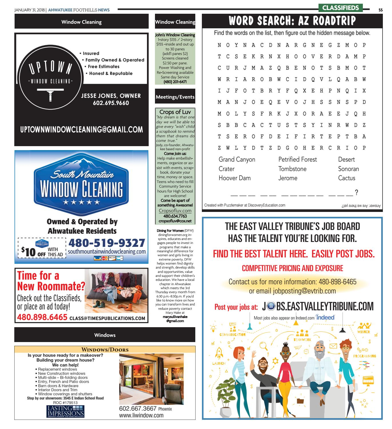 Ahwatukee Foothills News January 31, 2018 by Times Media Group - issuu