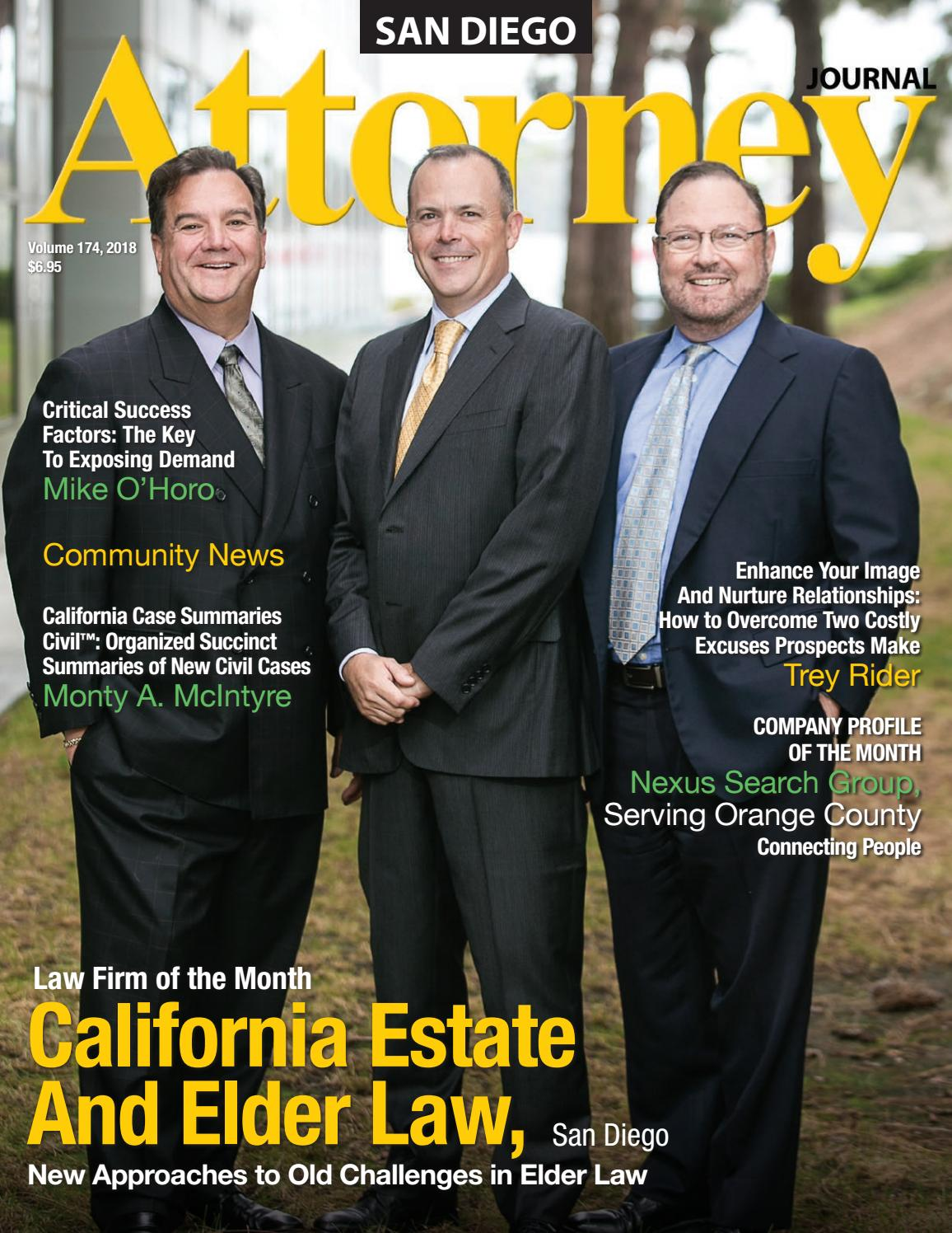 Attorney Journal San Diego Volume 174 By Attorney Journals Issuu