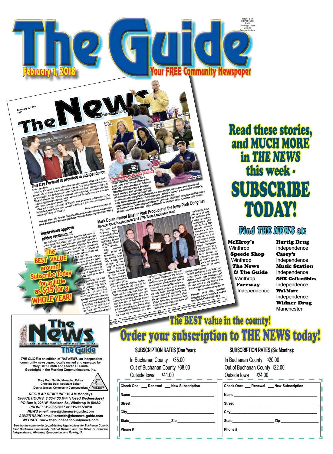 THE GUIDE 2 1 2018 by THE NEWS | Buchanan County Review - issuu